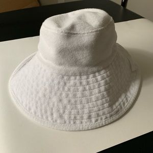 Juicy Couture white terry towel bucket hat